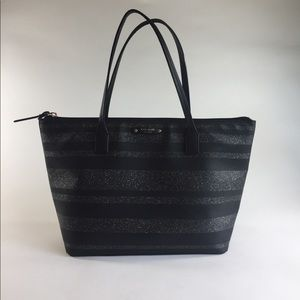 Kate Spade Black Crossgrain Leather Handbag